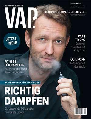 Cover VAP. Das Magazin für Dampfer